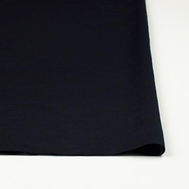 コットン&リネン×無地(ブラック)×薄サージワッシャー_全4色 イメージ3