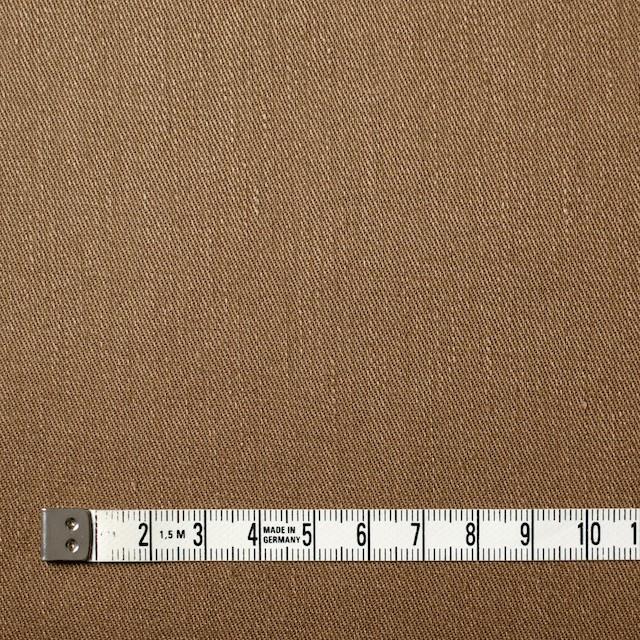リネン&コットン混×無地(オークル)×サージストレッチ_全4色 イメージ4