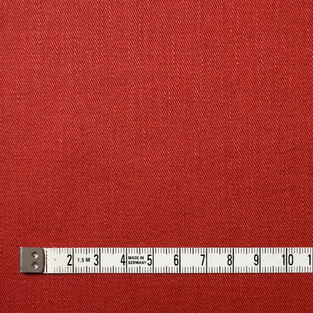 リネン&コットン混×無地(トマト)×サージストレッチ_全4色 イメージ4