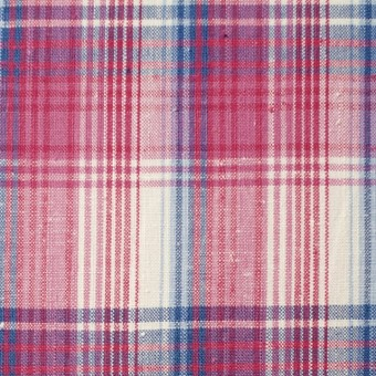 コットン×チェック(ピンク&ブルー)×ポプリン_全2色 サムネイル1