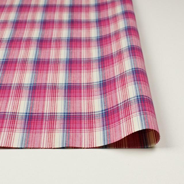 コットン×チェック(ピンク&ブルー)×ポプリン_全2色 イメージ3