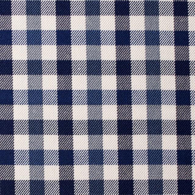 コットン×チェック(ブルーミックス)×サージ_全3色 イメージ1