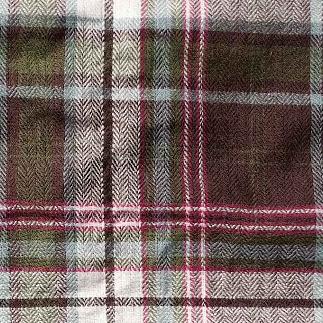 コットン&ポリウレタン×チェック(レーズン)×ヘリンボーン イメージ1