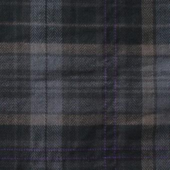 コットン&ポリウレタン×チェック(グレーミックス)×ヘリンボーン_全2色 サムネイル1