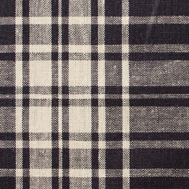 コットン&リネン混×チェック(アッシュグレープ)×シーチング_全2色 イメージ1