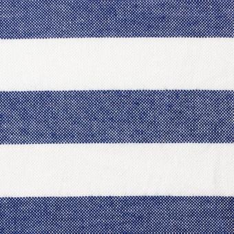 コットン×ボーダー(ネイビー)×オックスフォード_全3色 サムネイル1