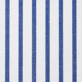 コットン&リネン×ストライプ(ブルー)×ブロード サムネイル1