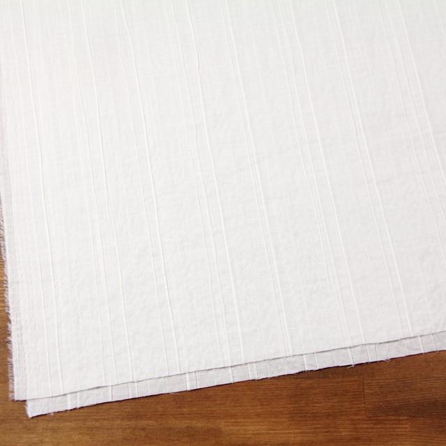 コットン&ポリウレタン×無地(オフホワイト)×ガーゼ・タテタック_全3色 イメージ2