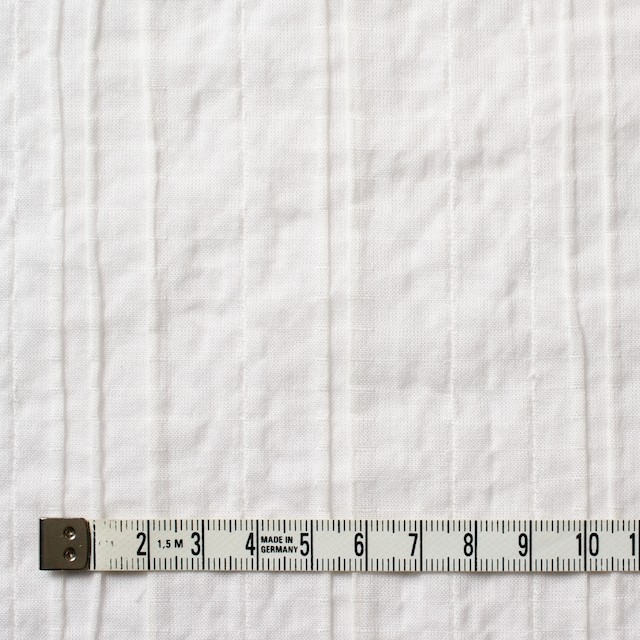 コットン&ポリウレタン×無地(オフホワイト)×ガーゼ・タテタック_全3色 イメージ4