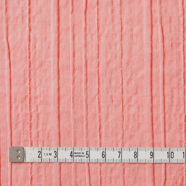 コットン&ポリウレタン×無地(コーラル)×ガーゼ・タテタック_全3色 イメージ4
