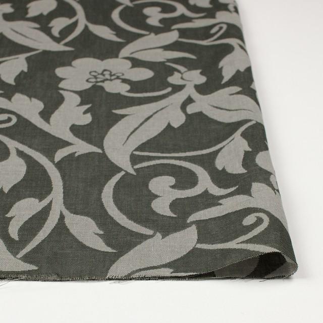 コットン×フラワー(サファリグリーン)×ガーゼ風通織 イメージ3