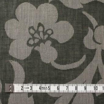 コットン×フラワー(サファリグリーン)×ガーゼ風通織 サムネイル4
