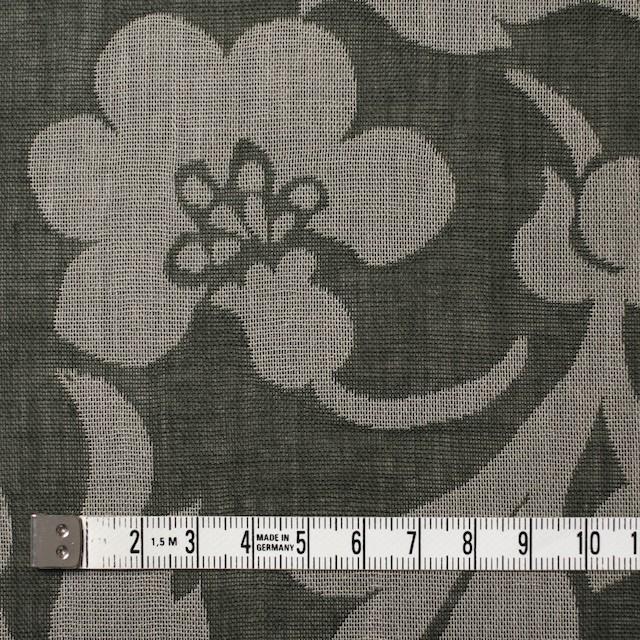 コットン×フラワー(サファリグリーン)×ガーゼ風通織 イメージ4