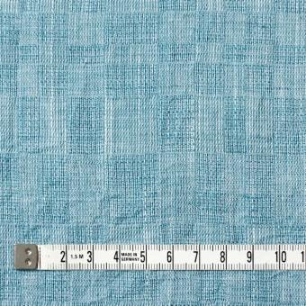 コットン&テンセル×無地(エメラルドブルー)×ガーゼ_全2色 サムネイル4