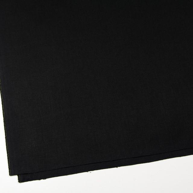 ヘンプ&コットン×無地(ブラック)×キャンバス イメージ2