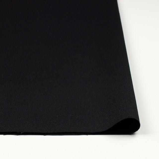ヘンプ&コットン×無地(ブラック)×キャンバス イメージ3