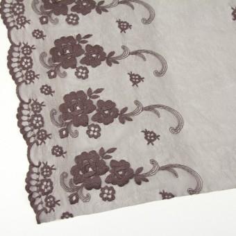 ナイロン&ポリエステル×フラワー(ココア)×チュール刺繍_全2色 サムネイル2