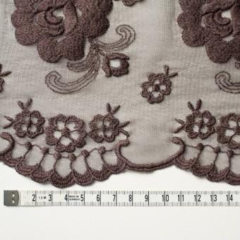 ナイロン&ポリエステル×フラワー(ココア)×チュール刺繍_全2色 サムネイル3