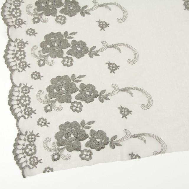 ナイロン&ポリエステル×フラワー(スレートグリーン)×チュール刺繍_全2色 イメージ2