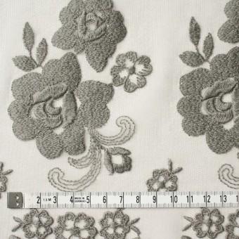 ナイロン&ポリエステル×フラワー(スレートグリーン)×チュール刺繍_全2色 サムネイル4