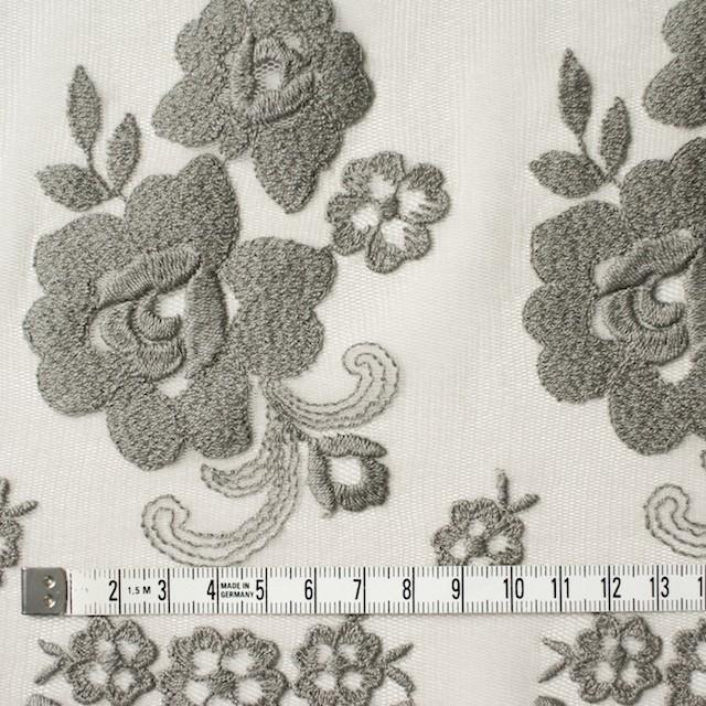 ナイロン&ポリエステル×フラワー(スレートグリーン)×チュール刺繍_全2色 イメージ4
