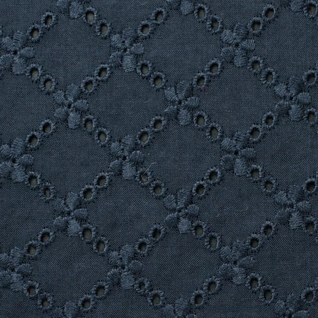 コットン×フラワー(アイアンネイビー)×ローン刺繍 イメージ1