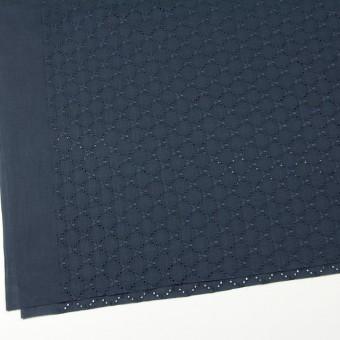 コットン×フラワー(アイアンネイビー)×ローン刺繍 サムネイル2