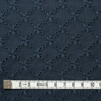 コットン×フラワー(アイアンネイビー)×ローン刺繍 サムネイル4