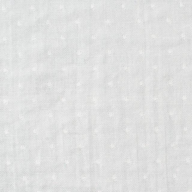 コットン×ドット(ライトグレー)×Wガーゼ イメージ1