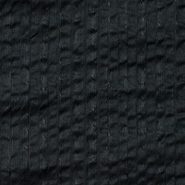 コットン×無地(ブラック)×サッカー_全2色 イメージ1
