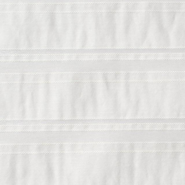 コットン&ポリエステル×ボーダー(オフホワイト)×ローン&オーガンジー_全2色 イメージ1