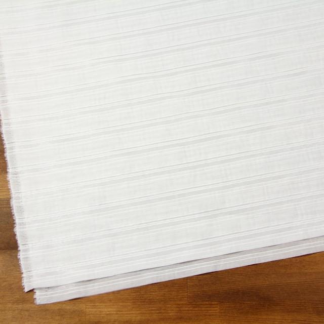 コットン&ポリエステル×ボーダー(オフホワイト)×ローン&オーガンジー_全2色 イメージ2