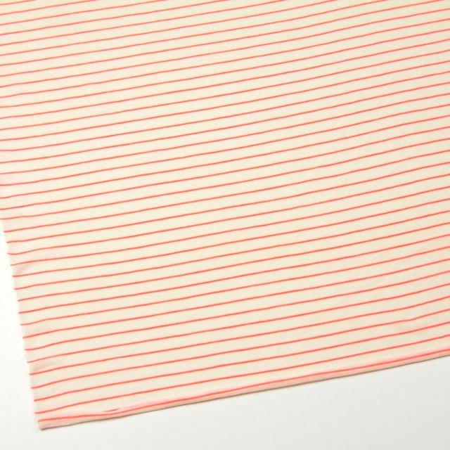 コットン&アクリル混×ボーダー(オレンジ)×天竺ニット_全4色 イメージ2