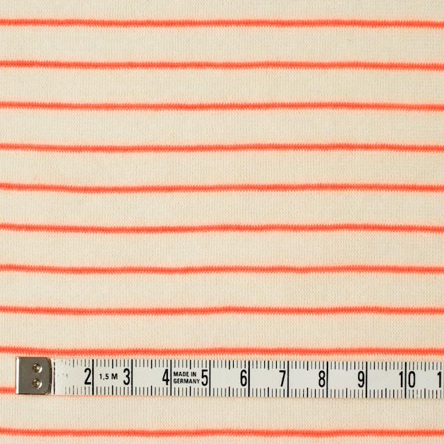 コットン&アクリル混×ボーダー(オレンジ)×天竺ニット_全4色 イメージ4
