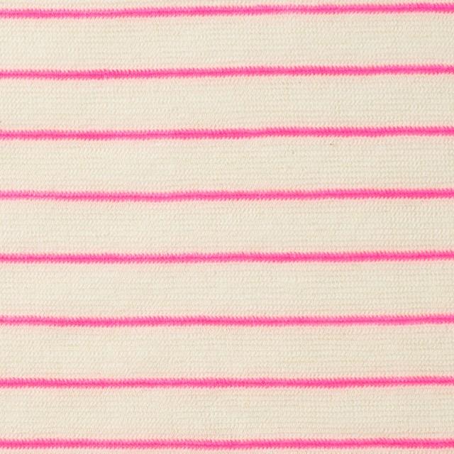 コットン&アクリル混×ボーダー(ピンク)×天竺ニット_全4色 イメージ1