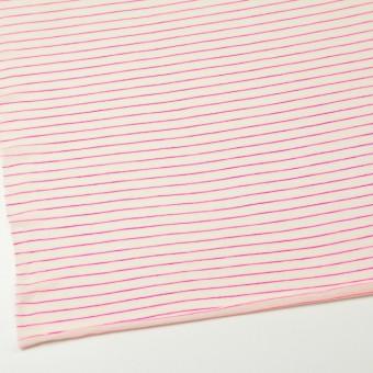 コットン&アクリル混×ボーダー(ピンク)×天竺ニット_全4色 サムネイル2