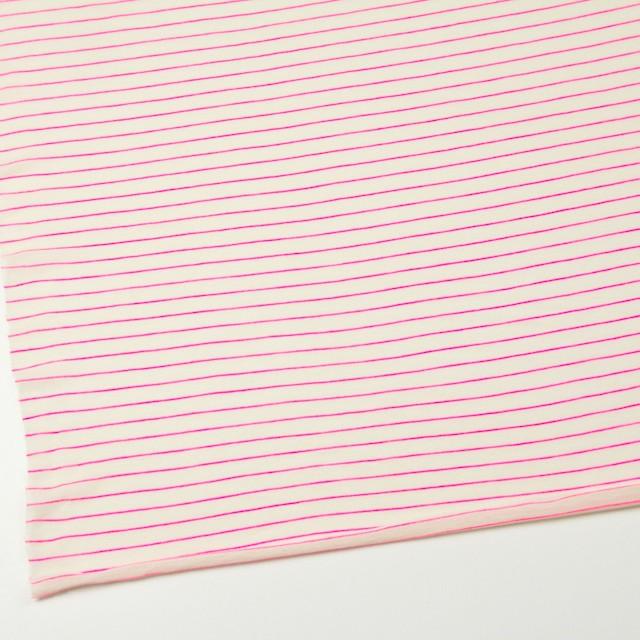 コットン&アクリル混×ボーダー(ピンク)×天竺ニット_全4色 イメージ2