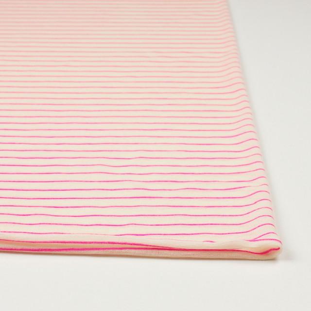 コットン&アクリル混×ボーダー(ピンク)×天竺ニット_全4色 イメージ3