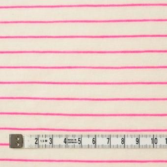 コットン&アクリル混×ボーダー(ピンク)×天竺ニット_全4色 サムネイル4
