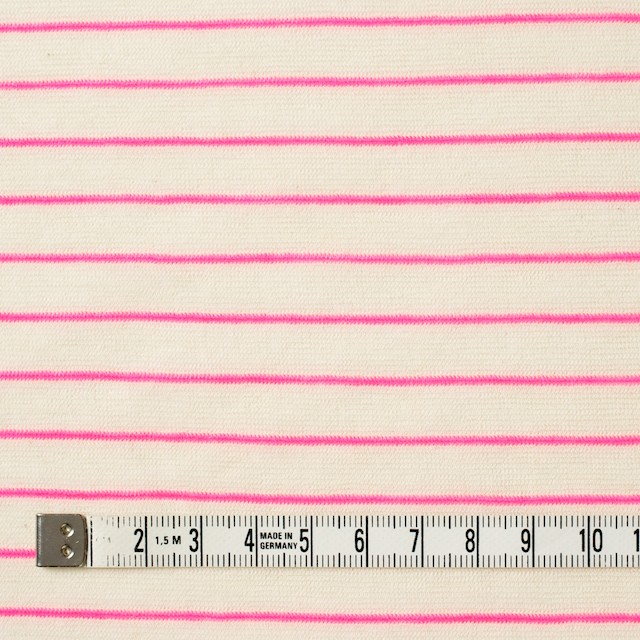 コットン&アクリル混×ボーダー(ピンク)×天竺ニット_全4色 イメージ4