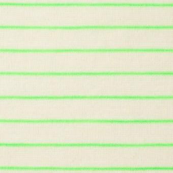 コットン&アクリル混×ボーダー(イエローグリーン)×天竺ニット_全4色 サムネイル1