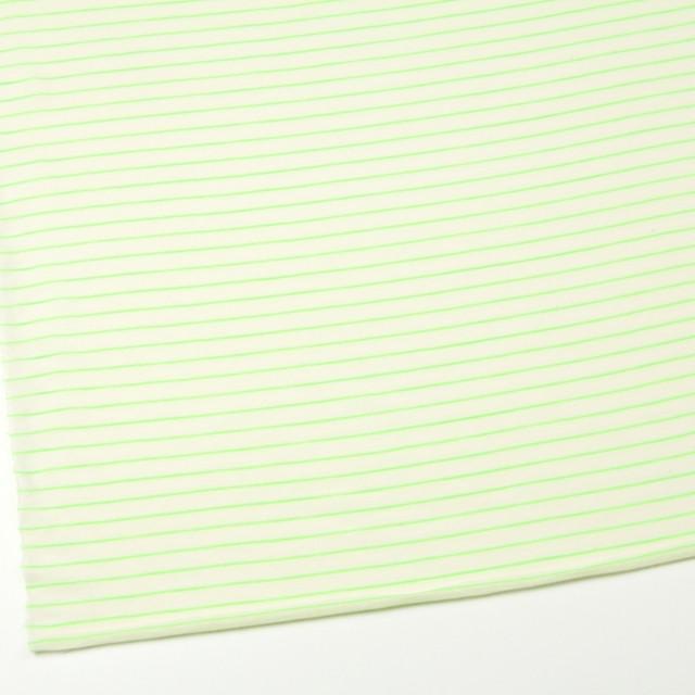 コットン&アクリル混×ボーダー(イエローグリーン)×天竺ニット_全4色 イメージ2