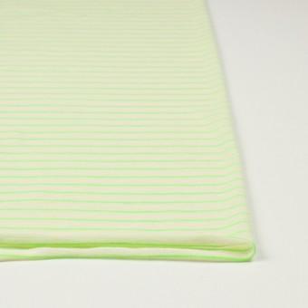 コットン&アクリル混×ボーダー(イエローグリーン)×天竺ニット_全4色 サムネイル3