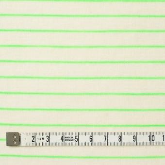 コットン&アクリル混×ボーダー(イエローグリーン)×天竺ニット_全4色 サムネイル4