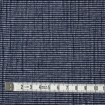 コットン&ポリウレタン×ボーダー(インクブルー)×天竺ニット サムネイル4