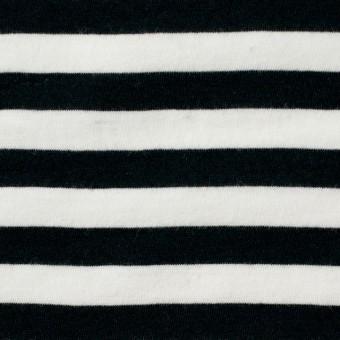 コットン×ボーダー(ホワイト&ブラック)×天竺ニット サムネイル1