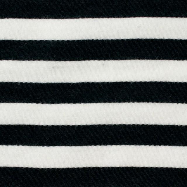コットン×ボーダー(ホワイト&ブラック)×天竺ニット イメージ1