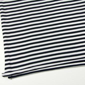コットン×ボーダー(ホワイト&ブラック)×天竺ニット サムネイル2