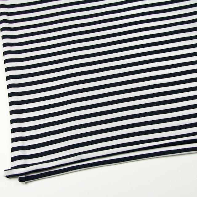 コットン×ボーダー(ホワイト&ブラック)×天竺ニット イメージ2