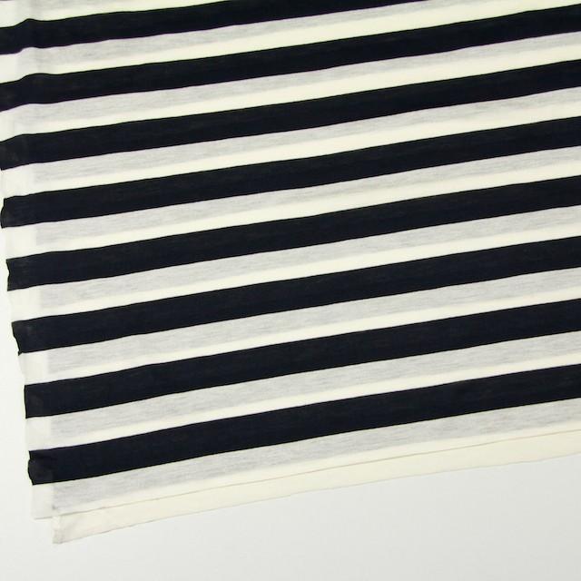 コットン×ボーダー(アイボリー&ブラック)×天竺ニット イメージ2